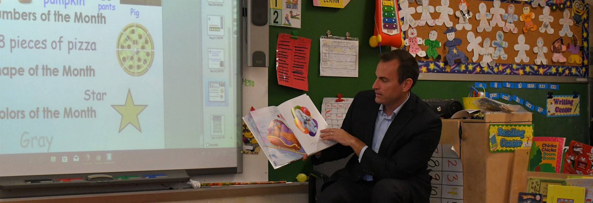 Superintendent OLeary preschool special guest reader