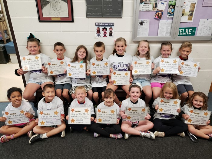 August Star of the Month Students