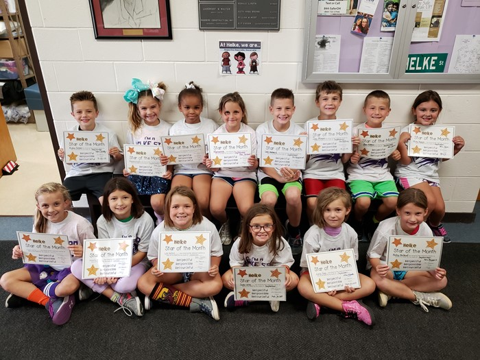 September Star Students of the Month