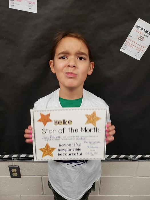 October Star of the Month Students