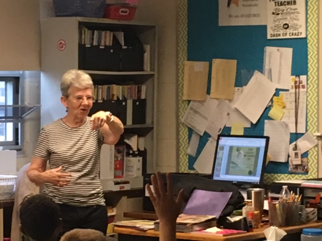 Children's Book Illustrator Shares Craft with Demmitt Students