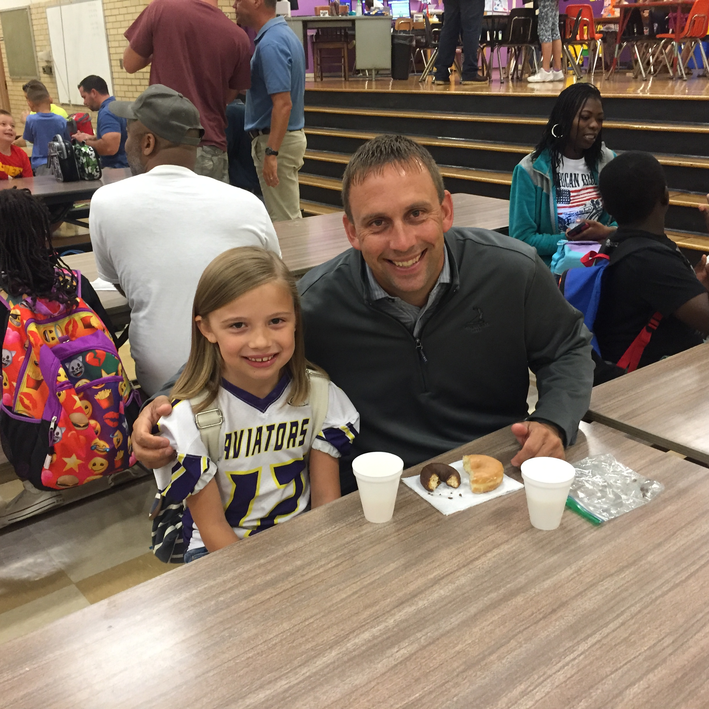 Great Turnout for Demmitt's Donuts with Dad