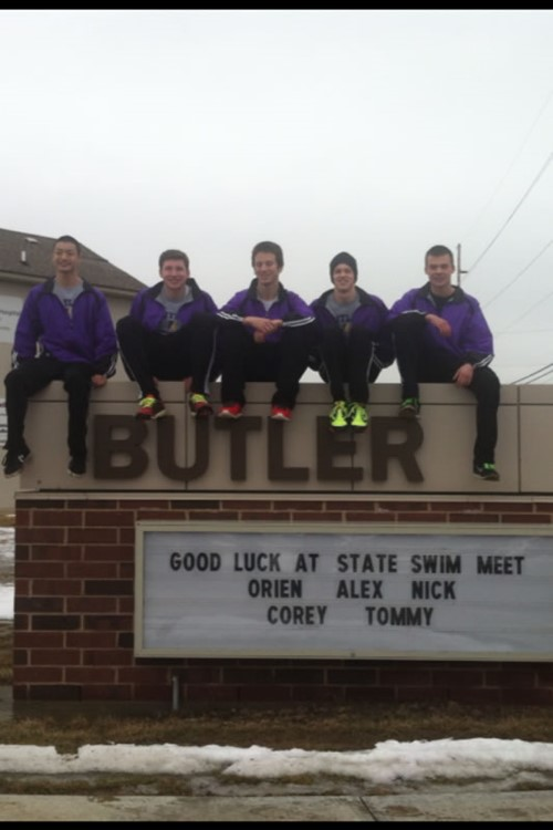 Competitive drive sends four aviators swimmers on to state finals butler high school for Deans high school swimming pool